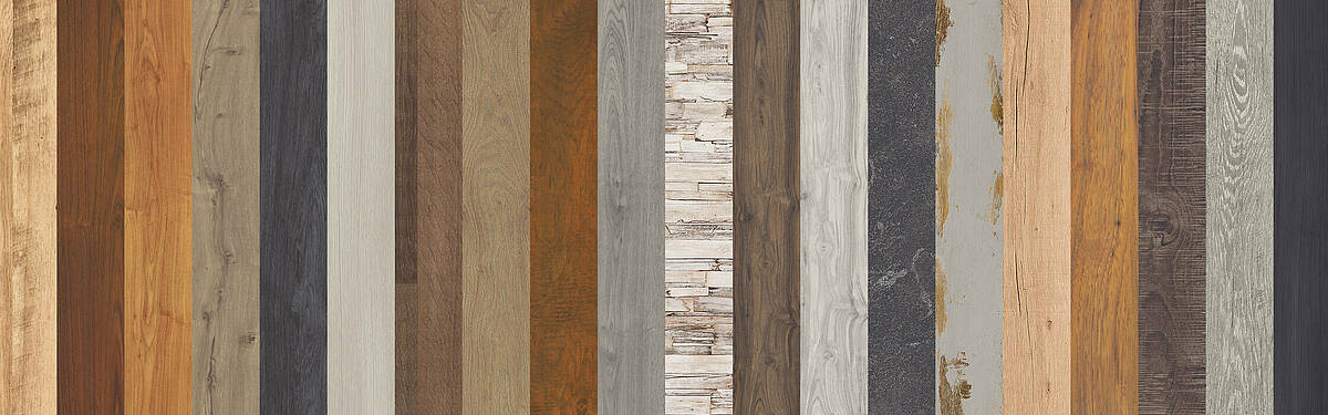 SWISS KRONO supplies a large selection of different decors and designs for laminate flooring.